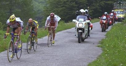 Giro d'Italia 99-Descente du col Fauniera/Discesa del Fauniera con Pantani e Savoldelli